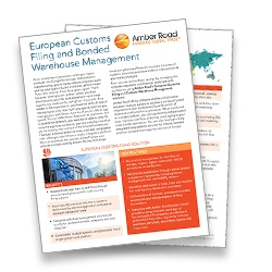 Learn more about the European Customs Filing and Bonded Warehouse Management brochure