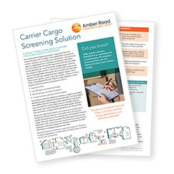 Learn more about the Carrier Cargo Screening Solution brochure